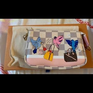 Louis Vuitton Damier Azur Bird Mini Pochette